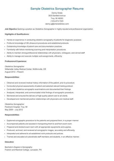 image gallery sonographer resume