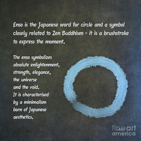 Japanese Decor Enso Meaning Painting By Jutta Maria Pusl