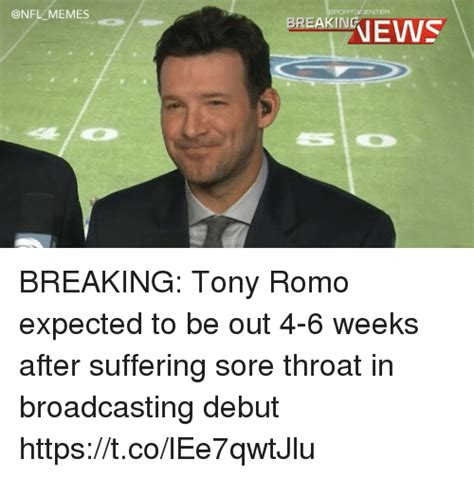 Tony Romo Memes - 25 best memes about sore throat sore throat memes