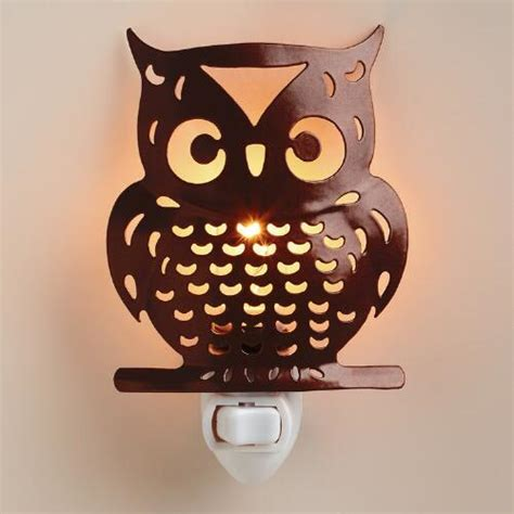 Handcrafted Metals - handcrafted metal owl light world market