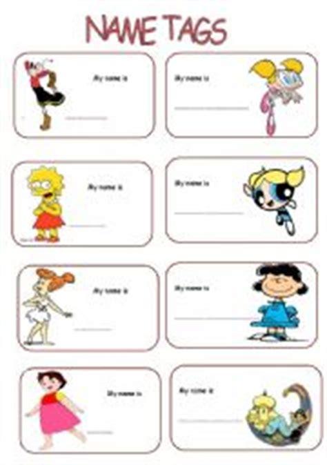 esl printable name tags english worksheet name tags for girls