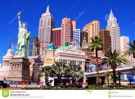 theme hotel york new york new york las vegas editorial stock image