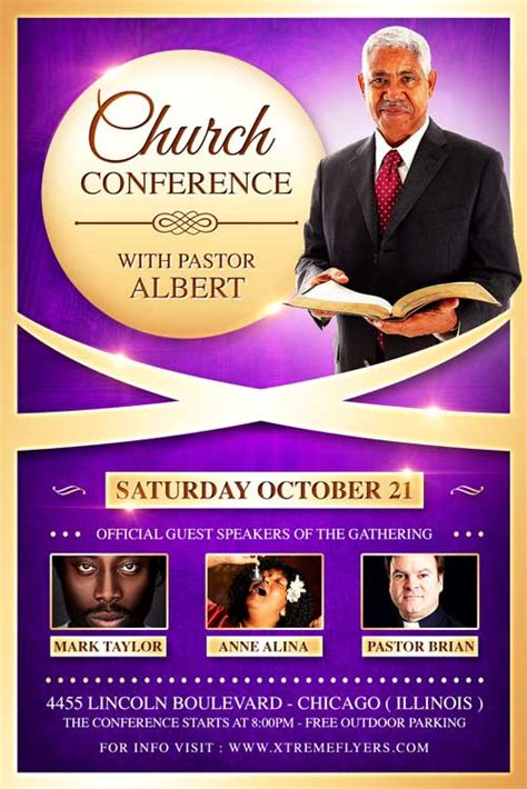 Church Conference Flyer Template Xtremeflyers Conference Flyer Template