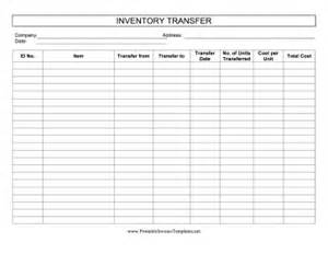inventory transfer template