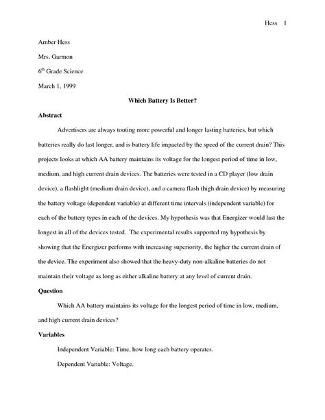 science fair report template best photos of science project report template science