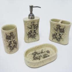 fleur de lis bathroom sets street revival fleur de lis 4 piece resin bath set free