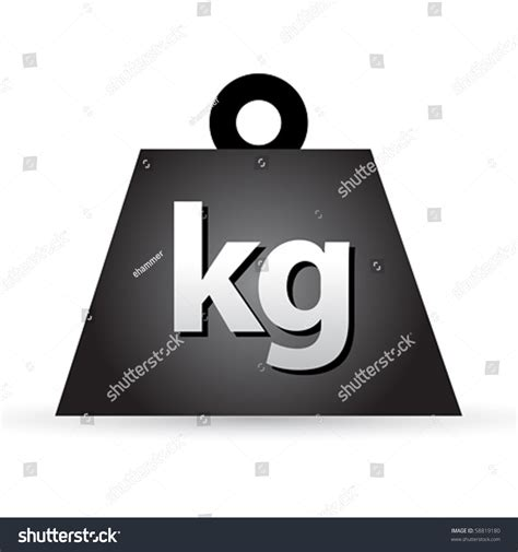 Barbell 1 Kg weight kilogram barbell sign stock vector 58819180