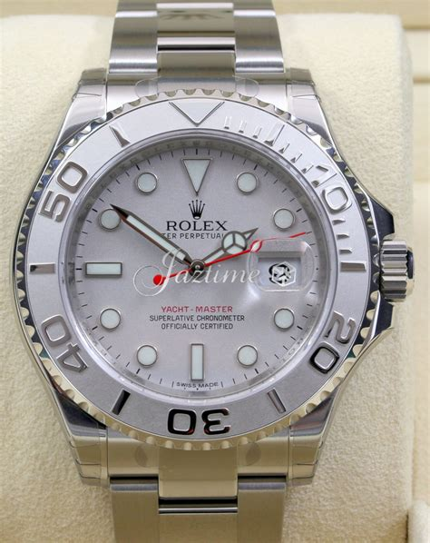 Rolex Yacht Grade 6 rolex 116622 yacht master silver 187 for sale