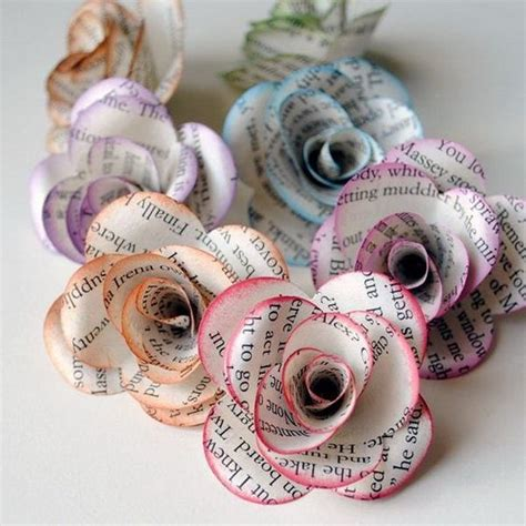 How To Make Paper Flowers Out Of Book Pages - best 25 book page flowers ideas on book