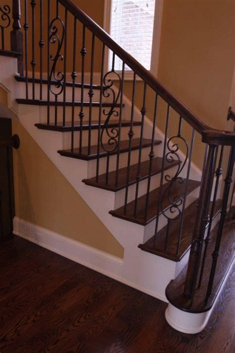 how to remove stair banister wrought iron stair railing uncarpeted stairs there are