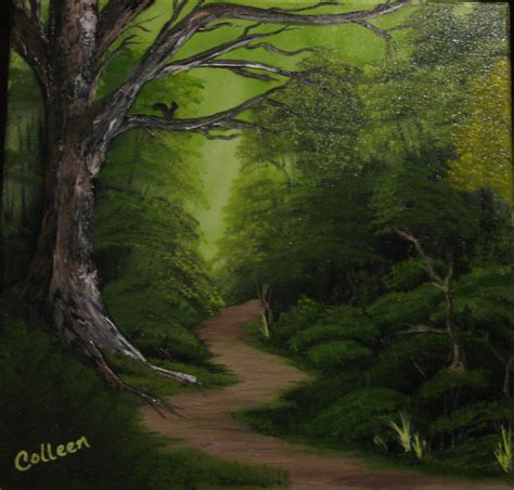 bob ross painting forest bob ross green forest path by crazycolleeny on deviantart
