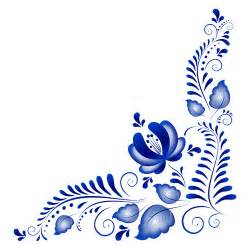 blue flower ornaments corner vector vector flower
