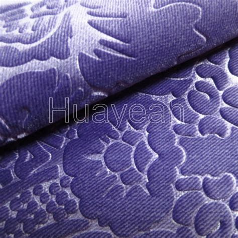 Velour Upholstery by Embossing Velour Upholstery Fabric