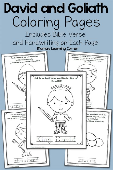coloring pages for david and goliath david and goliath bible coloring pages mamas learning corner