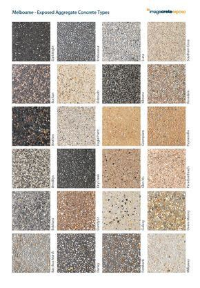 exposed aggregate concrete types  wall texture