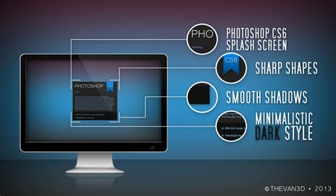 templates for photoshop cs6 photoshop cs6 minimalistic splash screen by thevan3d
