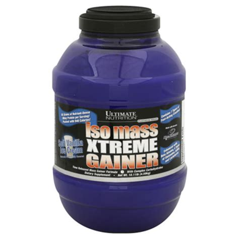 Sale Iso Mass Xtreme Gainer 3 5 Lbs Ultimate Nutrition iso mass xtreme gainer reviews supplement critique
