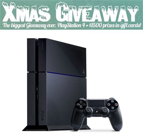 Playstation 4 Gift Card Canada - win playstation 4 1 500 in gift cards free stuff finder canada