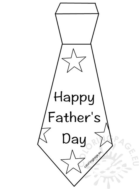 happy father s day tie template coloring page