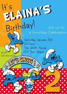 smurf invitation templates the smurfs birthday invitations envelopes x 20