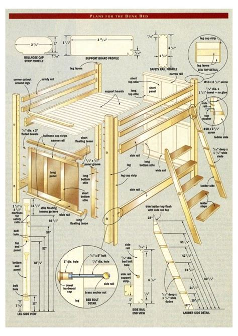 bunk bed  stairs plans  project bunk bed