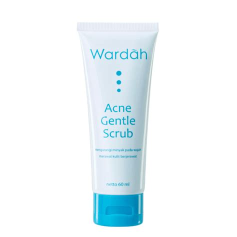 wardah acne gentle scrub 60 ml gogobli