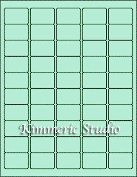 6 Sheets 1x1 1 2 Sm Blank Green Stickers Labels Custom Ebay 1 5 Label Template