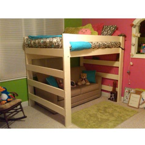 premier solid wood loft bed  lbs wt capacity full