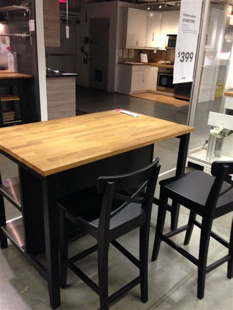 ikea stenstorp kitchen island dark oak back kitchen