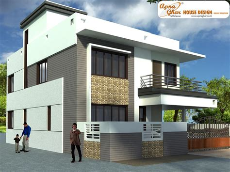 duplex designs duplex house design apnaghar house design page 3