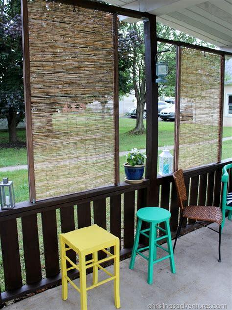 diy backyard privacy screen diy bamboo privacy screen christinas adventures
