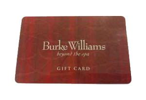 20 burke williams gift card ebay - Burke Williams Gift Card