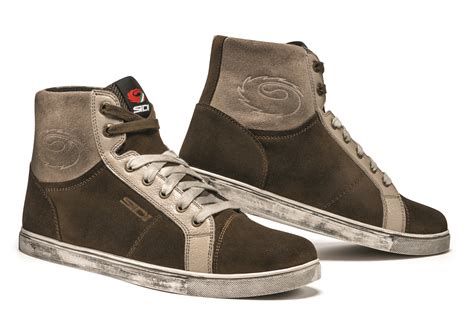 Sidi Insider Brown Casual Look Motorcycle Boots Low Cut