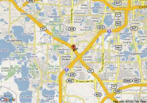Orlando Location Map by Map Of Hampton Inn Orlando At Universal Studios Orlando