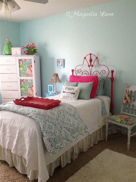 bedroom spray vintage white iron headboard gets a coat of hot watermelon