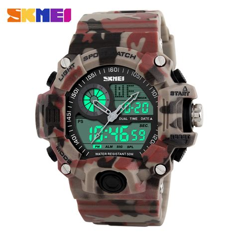 S Shock Sport 2168 new 2016 quartz digital camo dual time sports watches skmei s shock