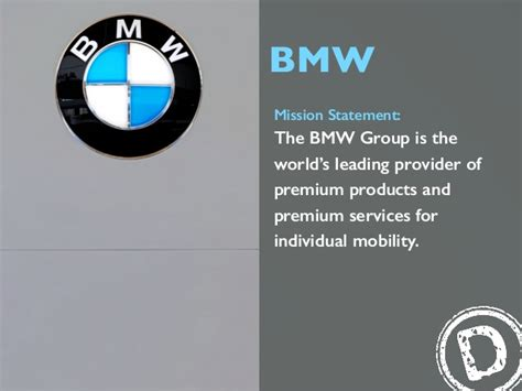 bmw mission statement  bmw