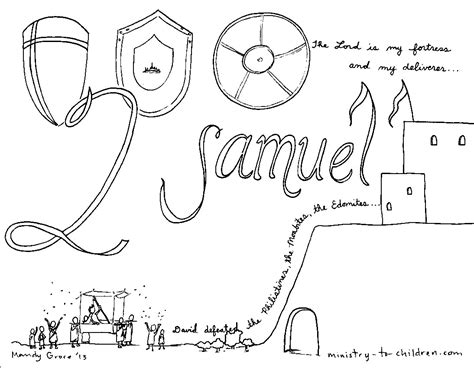Quot Book Of 2 Samuel Quot Bible Coloring Page Samuel Coloring Pages From The Bible