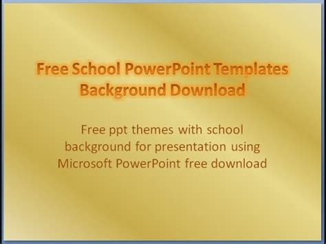 Free School Powerpoint Templates Download Background Presentation Youtube Free School Powerpoint Templates