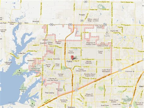 frisco texas map frisco texas map