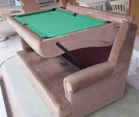 Old Sofa Hides Pool Table Underneath Cushions Techcrunch Sofa Pool Table