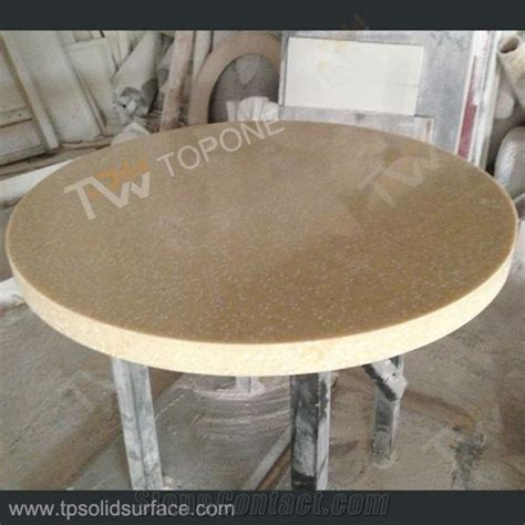 corian table tops beige color artificial marble table tops for