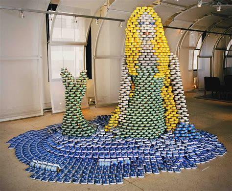 how to build a canned food sculpture if it s hip it s here archives canstruction food can