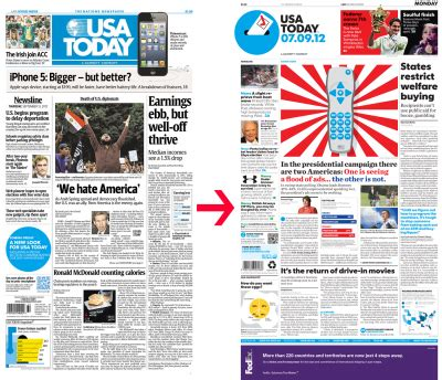 design network magazine for its 30th birthday usa today has some work done