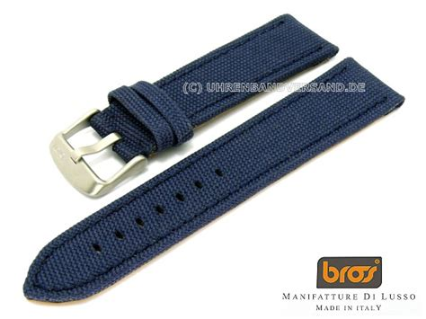 Bros H 22 bros canvas 24mm blue textile