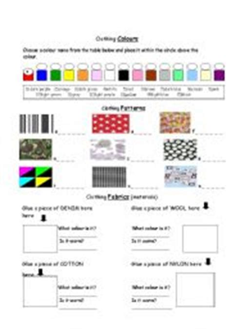 clothes pattern esl english teaching worksheets clothes