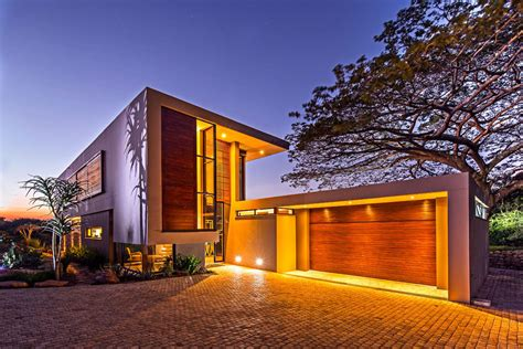 garage home exquisite contemporary residence in kwazulu natal south
