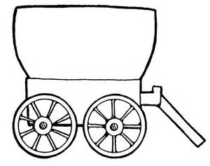 Covered Wagon Coloring Page Clip Art Clipartsco sketch template