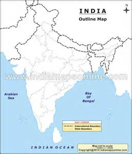 Blank Map Of India Physical by Outline Map Of India India Outline Map