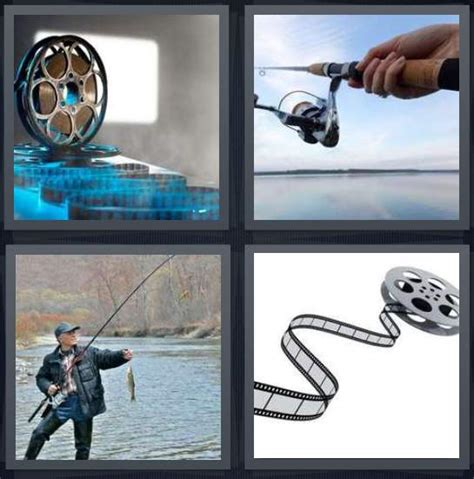 4 Letter Words Related To Fishing 4 pics 1 word answer for rod fishing heavy